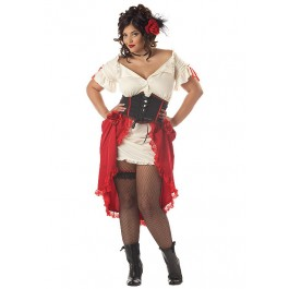 Plus Size Cantina Pirate Gal Costume