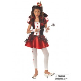 Queen Of Hearts Wonderland Fairytale Junior Teen Holiday Party Costume