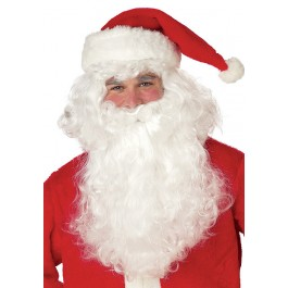 Santa Claus Beard And Wig Holiday Party Costume Accessory