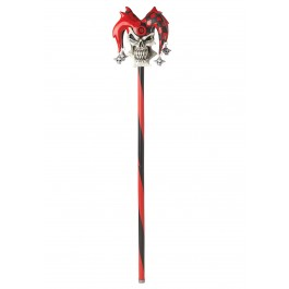 Psycho Jester Cane - Red/Black