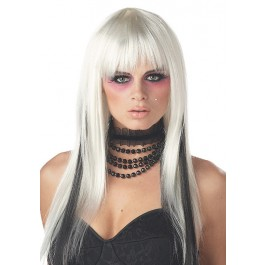 Platinum/Black Chopstix Wig