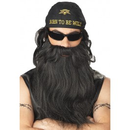 Biker Beard And Moustache Holiday Party Costume Accessory