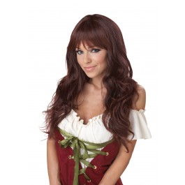 Long Dark Brunette Coquette Wig