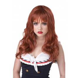 Long Auburn Coquette Wig Accessory