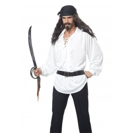 Pirate Wig, Moustache And Chin Patch