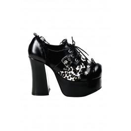 Women's 4 1/2 Inch Heel Oxford With Skull Studding And Lace Trim