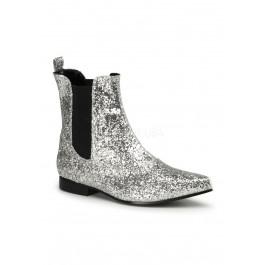 Funtasma CHELSEA-58G, Men's 1 Inch Heel Glitter Pointy Toe Slip On Beatle Boot