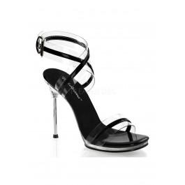 4 1/2 Inch Heel, 1/4 Inch Platform Wrap Around Ankle