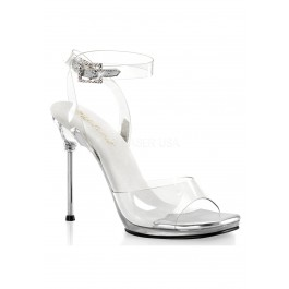 4 1/2 Inch Heel, 1/4 Inch Platform Wrap Around Ankle Strap