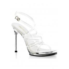 4 1/2 Inch Heel, 1/4 Inch Platform Criss Cross Ankle Strap