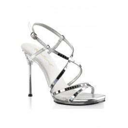 4 1/2 Inch Heel, 1/4 Inch Platform Criss Cross Ankle