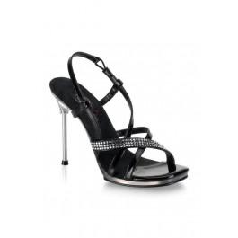 4 1/2 Inch Stiletto Heel Mini-Platform Sandal Women'S Size Shoe With Rhinestone Accents