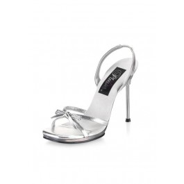 4 1/2 Inch Stiletto Heel Sling Back Mini-Platform Sandal Women'S Size Shoe With Rhinestones