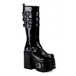 Men'S 5 1/2 Inch Heel Platform Buckled Knee Boot