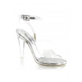 4 1/2 Inch Heel, Wrap Around Ankle Strap Sandal