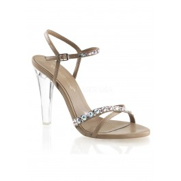 4 1/2 Inch Heel, Criss-Cross Ankle Strap Sandal