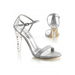 4 1/2 Inch Heel, Closed Back Ankle Strap Sandal