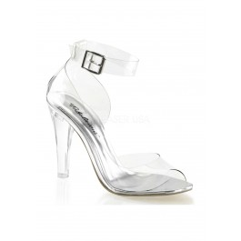 4 1/2 Inch Heel, Closed Back Ankle Strap Sandal