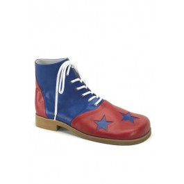 Two-Tone Clown Shoes. Men'S Size Shoe With Stars