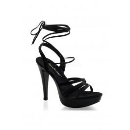 5 Inch Heel, 1 Inch PlatForm Strappy Criss Cross Ankle Wrap Sandal