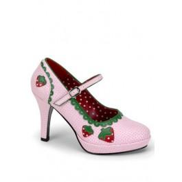 4 Inch Heel Strawberry Mary Jane Pump Women'S Size Shoe