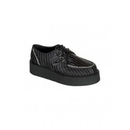 Men'S 2 Inch Platform Creeper With Zipper Trim
