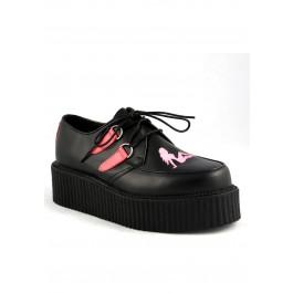 2 Inch Platform Creeper Men'S Size Shoe With Trucker Girl