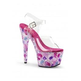 7 Inch Heel, 2 3/4 Inch Platform Ankle Strap Sandal