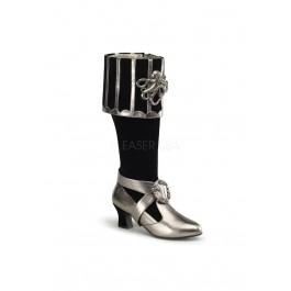 Funtasma CTHULHU-299, 3 3/4 Inch Block Heel Cuffed Knee Boot With Octopus Buckles