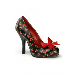 Pinup Couture CUTIEPIE-06, 4 1/2 Inch Heel Pump With Satin Bow