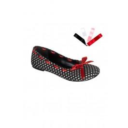 Ballet Flat Women'S Size Shoe With Eyelet Upper