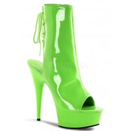 Women's 6 Inch Heel, 1 3/4 Inch Pf Open Toe/Back Ankle Boot