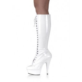 5 3/4 Spike Heel Platform Lace-Up Stretch Knee Boot Women'S Size Shoe