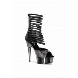 6 Inch Heel, 1 3/4 Inch Platform Ankle High Sandal
