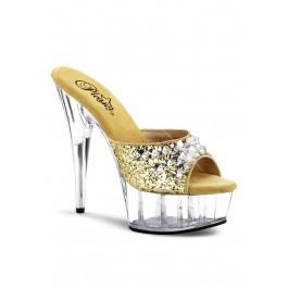 Women's 6 Inch Heel, 1 3/4 Inch Pf Slide Featuring Rhinestone Upper