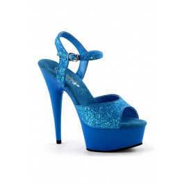 Women's 6 Inch Heel, 1 3/4 Inch Platform Ankle Strap Sandal