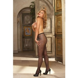 Barcelona, Plus Size Fishnet Pantyhose With Back Seam