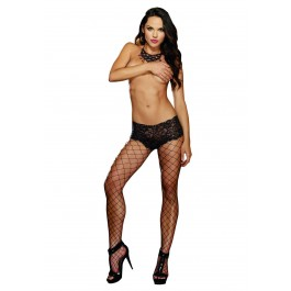Monaco, Diamond Net Pantyhose With Boyshort Top