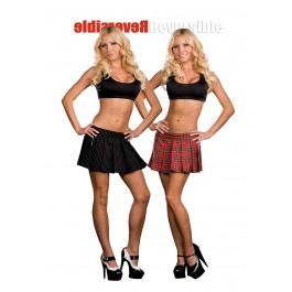 Reversible School Girl/Gangster Skirt Costume