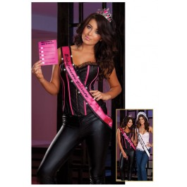 Dreamgirl 7397 Bachelorette Beauty Tiara, Sash and Thong Set