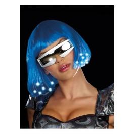Light Up Blue Wig