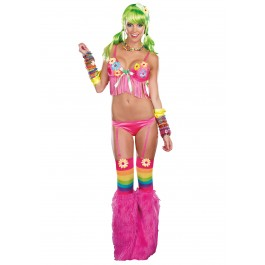 Dazed Up Light Up Daisy Bikini Costume Set