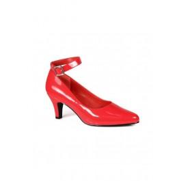 3 Inch Block Heel Wide Width Ankle Strap Pump