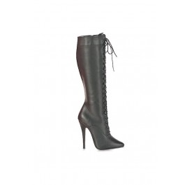 6 Inch Lace-Up Knee Boot, With Side Zip