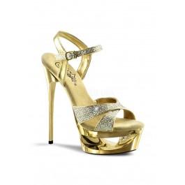 6 1/2 Inch Heel,1 3/4 Platform Ankle Strap Sandal