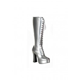 5 Inch Heel Knee High Boots With Zipper