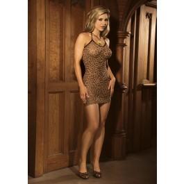 Leopard Slip Mini Dress