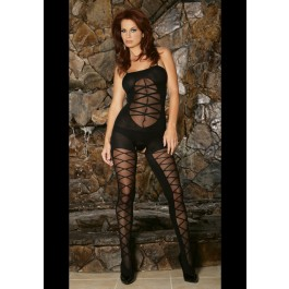 Opaque Cross Lace Front Bodyst