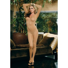 Elegant Moments 1606 Opaque Long Sleeve Open Crotch Body Stocking