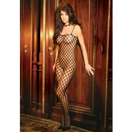 Seamless Lycra Crochet Open Crotch Bodystocking